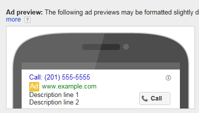 AdWords New Call-Only Ads