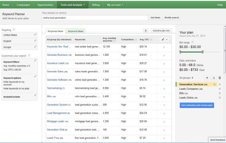 Cheap google adwords keywords рекламный бюджет для яндекс.директ в рублях в 2009 году