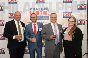 Skip, Bechara, Vince, Lindsay: The PML Team Representing at the Philly 100 Awards