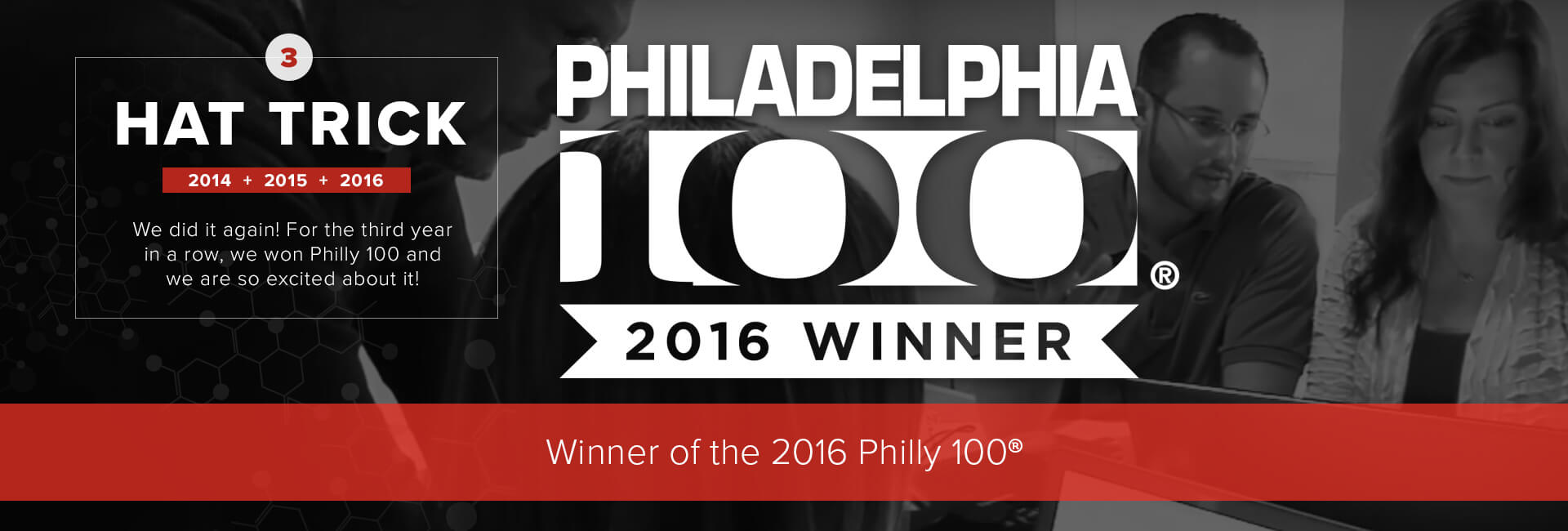 Philly Marketing Labs Receives A Hat Trick As One Of The Region's Fastest Growing Businesses