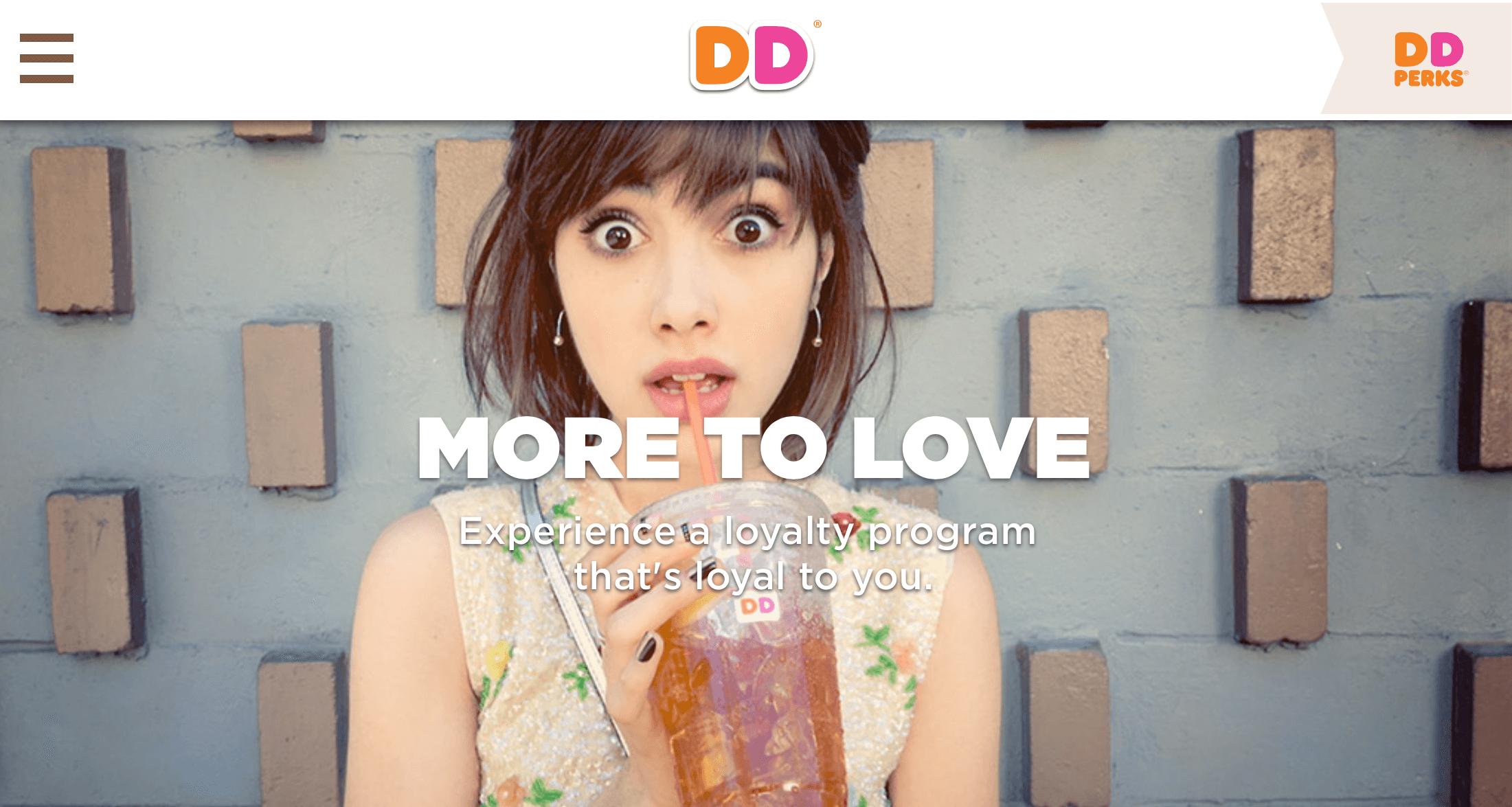 Dunkin Donuts Responsive Landscape Sample