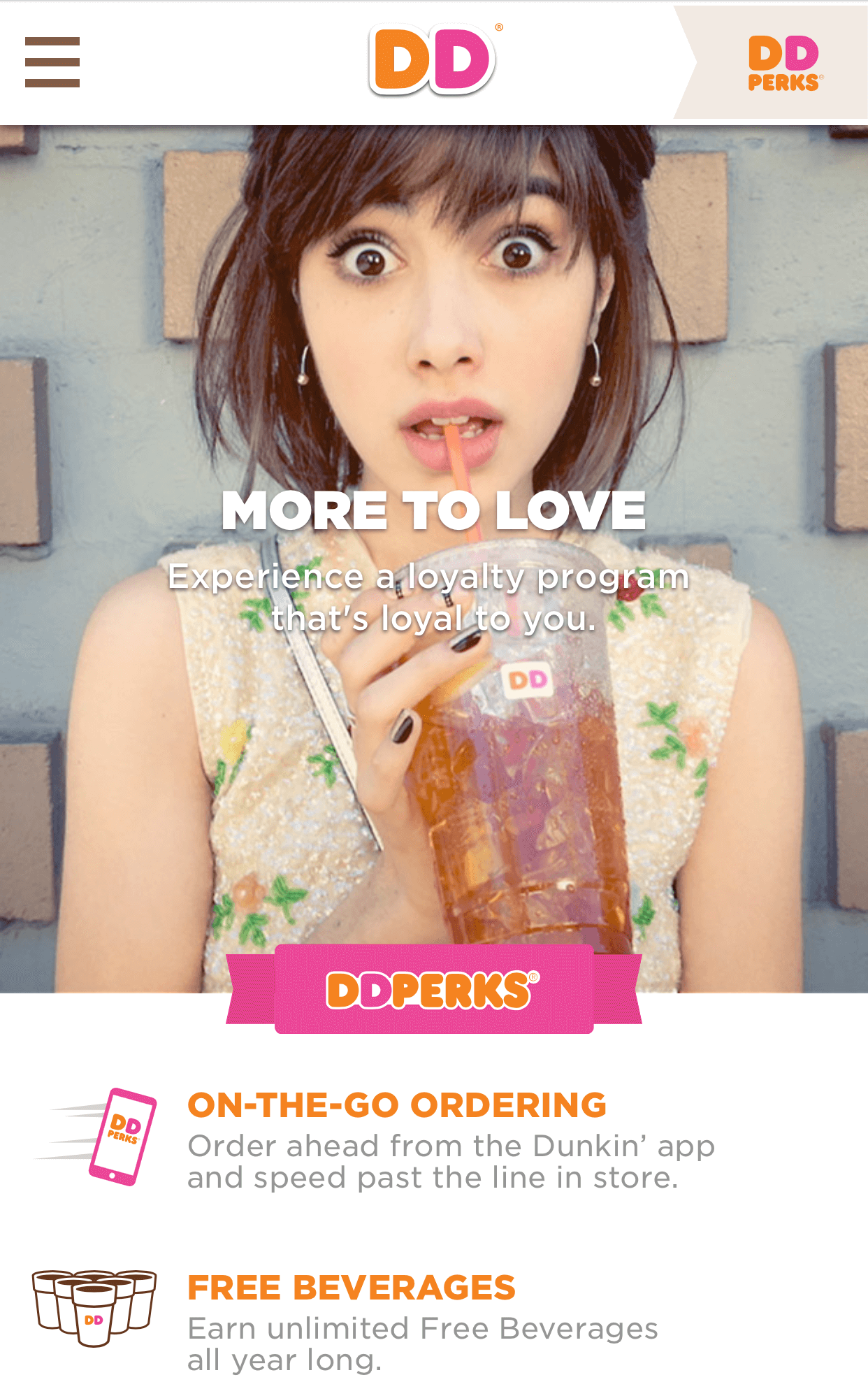 Dunkin Donuts Responsive Portrait Sample